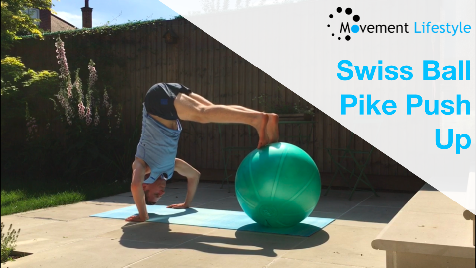 Swiss Ball Pike Push Up